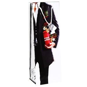 Dāvanu maisiņš pud.X-Mas Gentleman 12x10x35cm