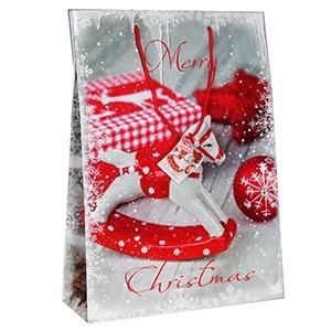 Dāvanu maisiņš Ziemassvētku 25x8.5x34.5cm