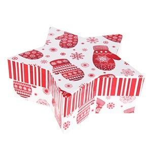 Dāvanu kaste zvaignes formā 2gab.