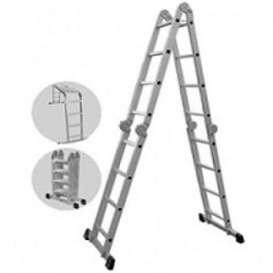 Kāpnes alumīnija 4x3 pakāpieni, max garums 3.7m