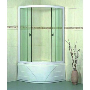 Duškabīne ar stikla durvīm, 900x900x1950, 5mm