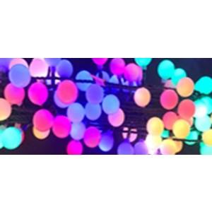 Viretne elektriska Cherry LED 100, daudzkrāsaina, 10m