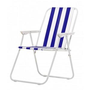 Kempinga krēsls, zils 53x44x75cm