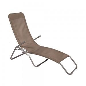 Sauļošanās krēsls, pelēks 58x135x70cm