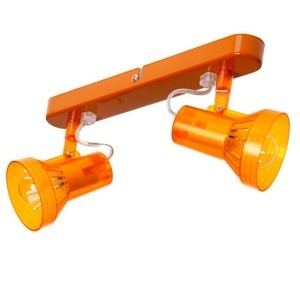 Spotlampa -2x40W E14 oranža