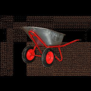 Dārza ķerra 120L cinkota kulba 1.0mm,  rāmis 1,2mm, riepa  400-8