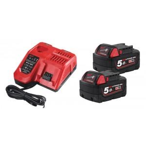 Akumulatoru un lādētāju komplekts M18 NRG-502