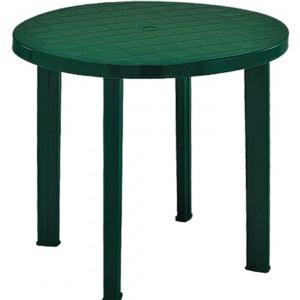 Galds apaļš Tondo 90cm zaļš plastmasas
