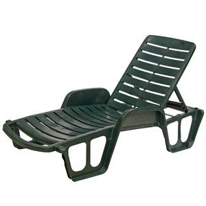 Sauļošanās gulta Lettino 71x192x100cm zaļa