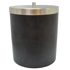 Atkritumu spainis ar vāku''Stone'', melns