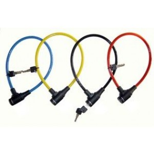 Velo trose ar atslēgu - krāsaina 65cm x 8mm