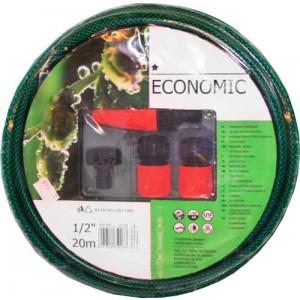 Laistīšanas šļūtene 1/2 Economic ar sprauslu kompl
