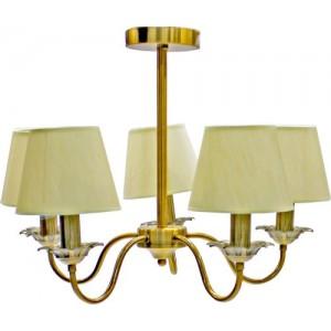 Griestu lampa 5xE14 40W, apzeltīta