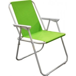 Krēsls kempinga 53x44x75cm zaļš