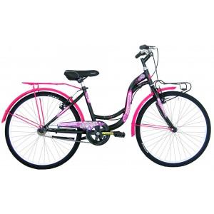 """COPPI pilsētas velosipēds TAYLOR 24""""(rozā,melns)"""