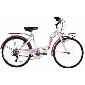 "COPPI pilsētas velosipēds TAYLOR 24""(balts,rozā)"