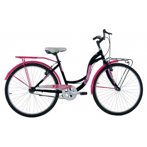 "COPPI klasiskais pilsētas velosipēds TAYLOR 26""(rozā,melns)"