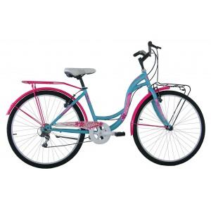 """COPPI klasiskais pilsētas velosipēds TAYLOR 26""""(zils,rozā)"""