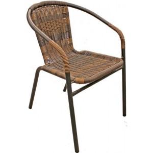 Krēsls pīts metāla 55x56x75 melns