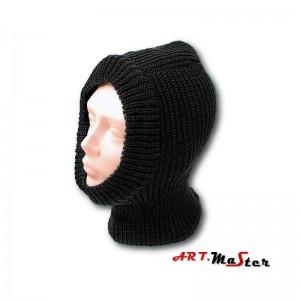 Cepure-maska Balaklava kokvilna melna
