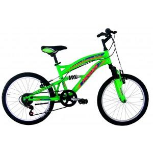 """Hogan mtb kalnu velosipēds ar pilno amortizāciju 20"""" (zaļš)"""