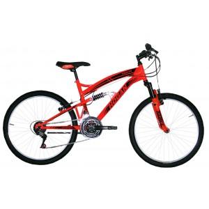 """Hogan mtb kalnu velosipēds ar pilno amortizāciju 24"""" (oranžs)"""
