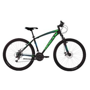 """Hogan MTB kalnu velosipēds Melns ar zaļu 27,5"""" ar disku bremzēm"""