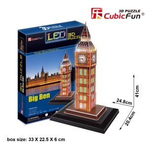 CubicFun LED 3D puzle Big Ben