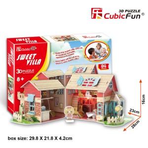 CubicFun 3D leļļu māja Sweet Villa