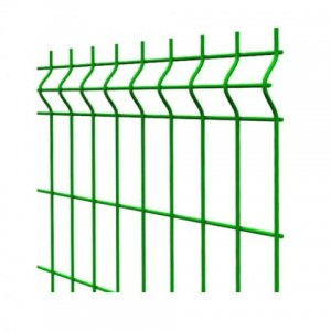 Paneļa žogs cinkots ar PVC, zaļš 4.0 x 200 x 50mm, 1.53mx2.5m