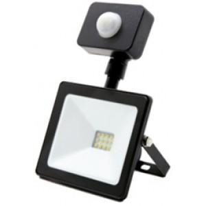 Prožektors LED 10W ar sensoru melns